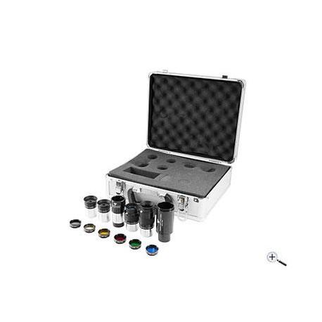 """1,25"""" Okularset mit Filter und Adapter - 12 Teile"""