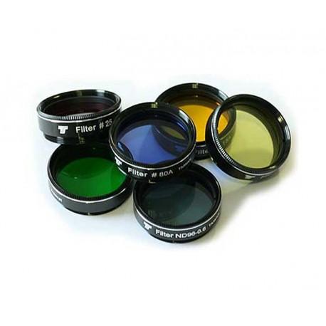 """1,25"""" Filterset 5 Farbfilter + 1 Graufilter für Teleskope bis 130 mm Öffnung"""